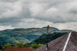 Wallace Monument with Dumyat Hill behind it